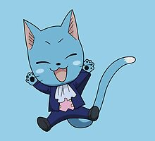 FAIRY TAIL: Suited & Booted Happy  by TeemoTaylor