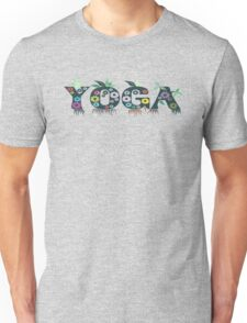 Cute Inspirational and Motivational Floral Yoga Text T-Shirts and Gifts Unisex T-Shirt