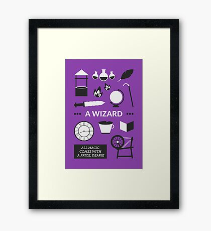 Once Upon A Time - A Wizard Framed Print