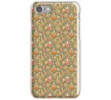Christmas Green Gingerbread Man Pattern iPhone Case/Skin