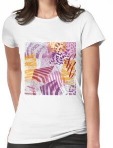 Safari pattern Womens Fitted T-Shirt