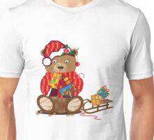 kleiner Bär mit Weihnachtsmütze Unisex T-Shirt