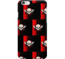 Wing Skull - RED (Pattern) iPhone Case/Skin