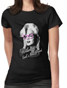 Glasses Are A Girl's Best Friend Womens Fitted T-Shirt