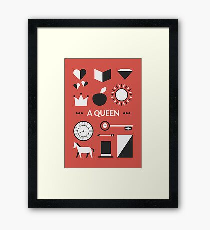 Once Upon A Time - A Queen Framed Print