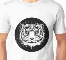 Kopf eines weißen Tigers Unisex T-Shirt