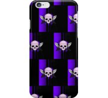Wing Skull - PURPLE (Pattern) iPhone Case/Skin