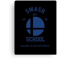 Smash School (Blue) Canvas Print
