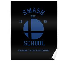 Smash School (Blue) Poster