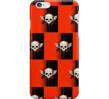 Wing Skull - ORANGE (Pattern 2) iPhone Case/Skin