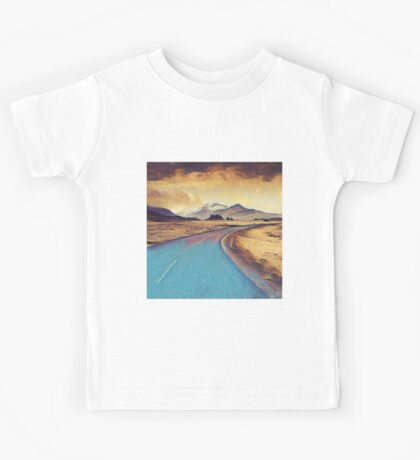 Abstract landscape, modern,elegant,contemporary art Kids Tee