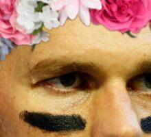 Flower Crown Tom Brady Sticker