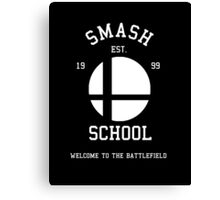 Smash School (White) Canvas Print