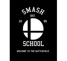 Smash School (White) Photographic Print