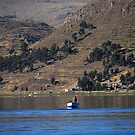 Fisherman on Lake Titicaca, Puno - Peru by Olivia Son