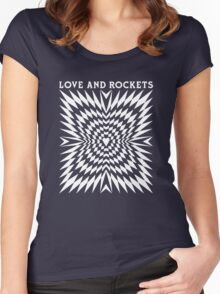 Love and Rockets band Women's Fitted Scoop T-Shirt
