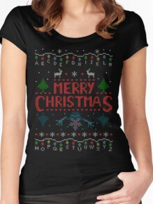 MERRY CHRISTMAS FROM THE UPSIDE DOWN! #2 Women's Fitted Scoop T-Shirt