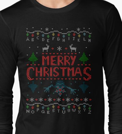 MERRY CHRISTMAS FROM THE UPSIDE DOWN! #2 Long Sleeve T-Shirt