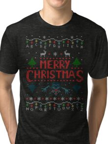 MERRY CHRISTMAS FROM THE UPSIDE DOWN! #2 Tri-blend T-Shirt