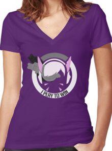 Vdain Women's Fitted V-Neck T-Shirt