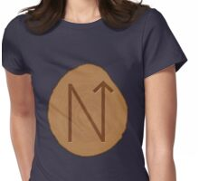 Mental Power Bind Rune Wooden Womens Fitted T-Shirt