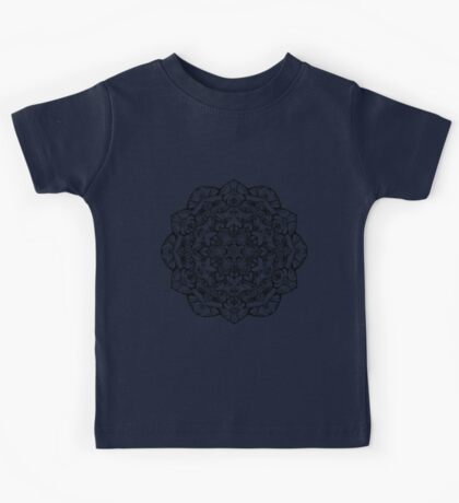Black and white January mandala  Kids Tee