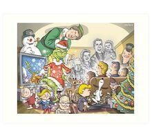 Christmas Classic characters Art Print