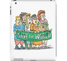 Peace Loving protesting tree-huggers iPad Case/Skin