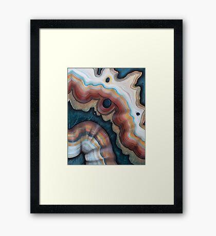 Agate ribbon Framed Print
