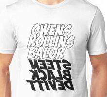 OWENS ROLLINS BALOR-STEEN BLACK DEVITT Unisex T-Shirt