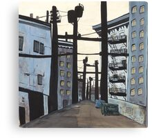 Urban Lanescape Canvas Print