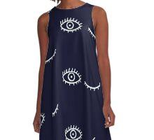 Keep It Quirky - Dark A-Line Dress