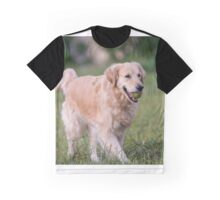 Golden retriever running Graphic T-Shirt