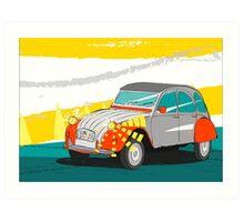 Citroën - 2cv - Vintage Car Poster Art Print