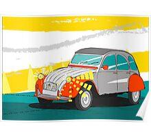 Citroën - 2cv - Vintage Car Poster Poster