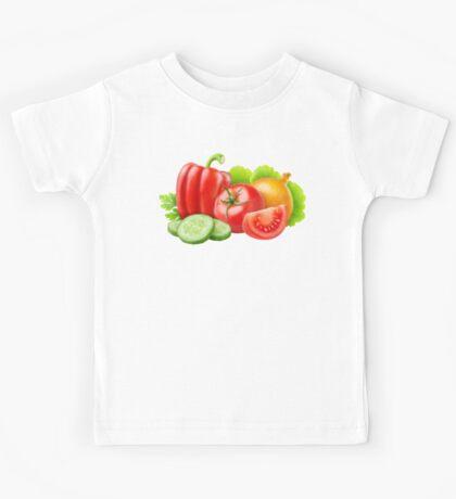 Mixed fresh vegetables Kids Tee