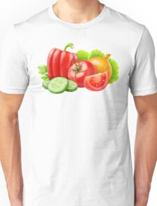 Mixed fresh vegetables Unisex T-Shirt