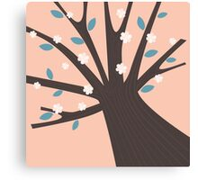 New! Spring tree with flowers. New art available Canvas Print
