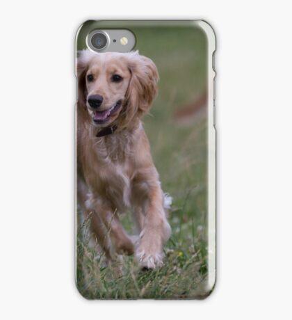 English Cocker Spaniel  running iPhone Case/Skin