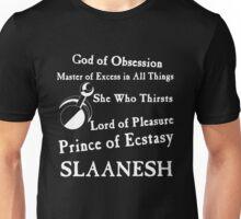 Slaanesh, Lord of Pleasure White Unisex T-Shirt