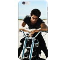 Dylan O'Brien on a Motorcycle iPhone Case/Skin