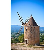 Old stone windmill in Provence, France Photographic Print