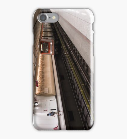 Train Reaching Subway Station iPhone Case/Skin