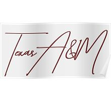 Texas A&M  Poster
