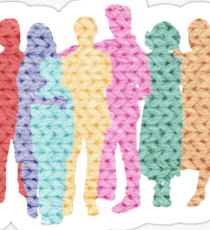 A Tight-Knit Family Sticker