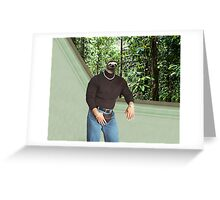 Dwayne The Sloth Johnson Greeting Card