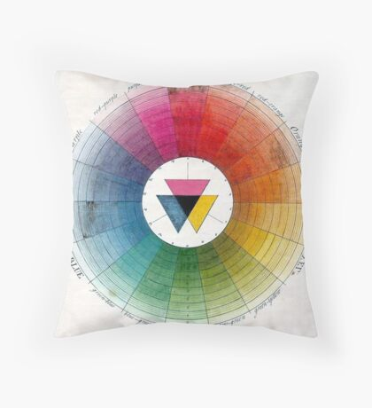 Ancient Colour Wheel Throw Pillow