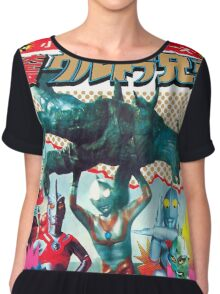 Ultra Man - Vintage Superhero Chiffon Top