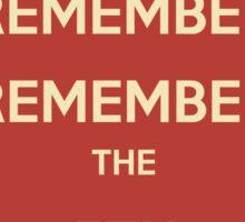 Guy Fawkes 5th November Sticker