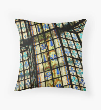 Stained Glass Ceiling - Paris, France Throw Pillow